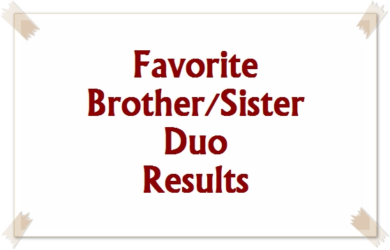 Favorite Brother/Sister Duo Results