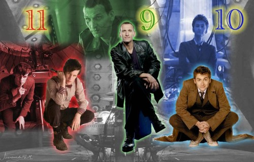 doctor_who_nine_ten_eleven_by_ferrlm-d5a6z72